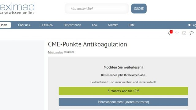Deximed Antikoagulation-Kurs Online
