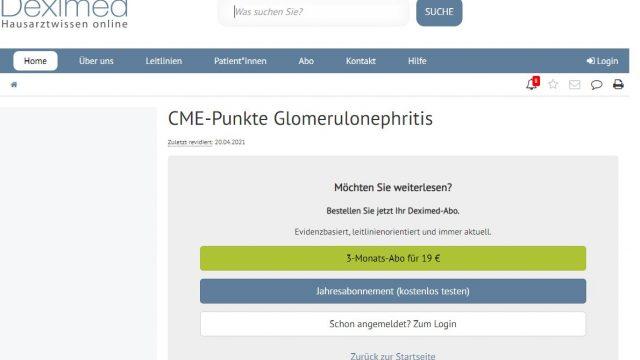 Deximed Glomerulonephritis-Kurs Online