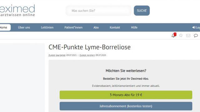 Deximed Lyme-Borreliose-Kurs Online