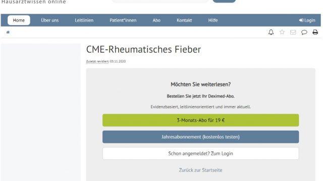 Deximed Rheumatisches-Fieber-Kurs Online