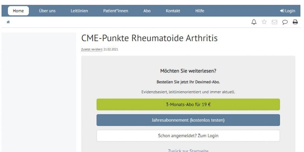 Deximed Rheumatoide-Arthritis-Kurs Online