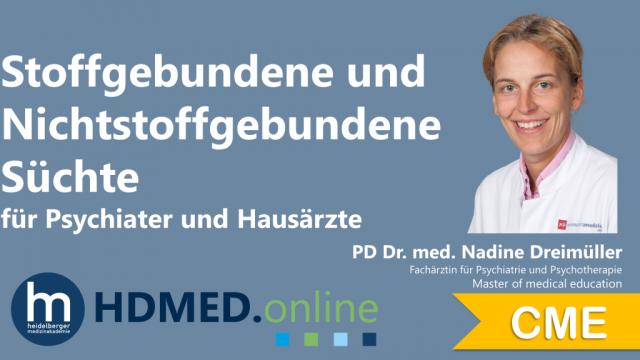 HDMED.online: Stoffgebundene und nicht stoffgebundene Süchte