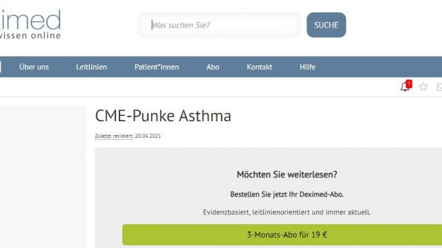 Deximed Asthma-Kurs Online