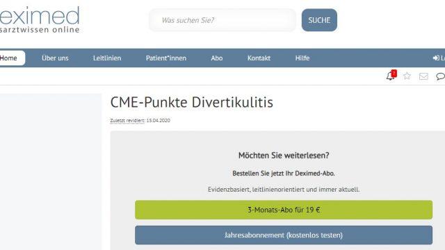 Deximed Divertikulitis-Kurs Online