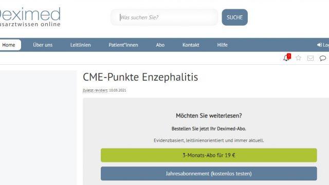 Deximed Enzephalitis-Kurs Online