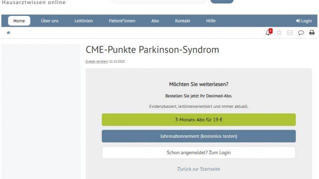 Deximed Parkinson-Syndrom-Kurs Online