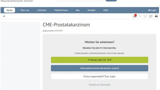 Deximed Prostatakarzinom-Kurs Online