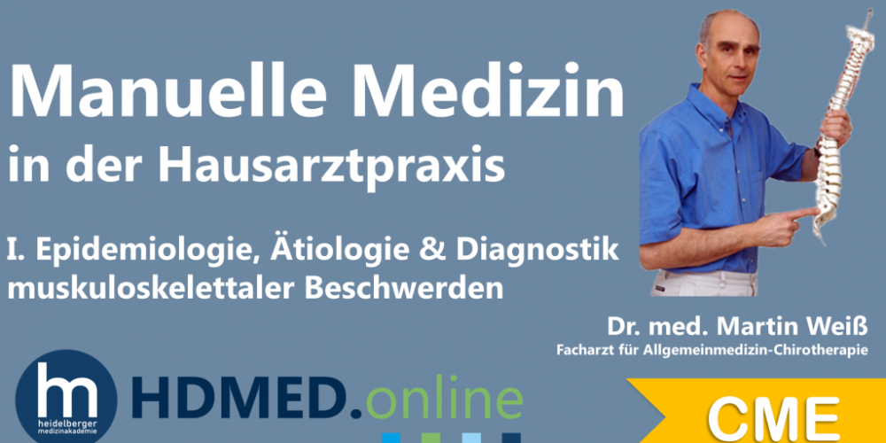 HDMED.online: Manuelle Medizin Modul 1- Epidemiologie, Ätiologie & Diagnostik