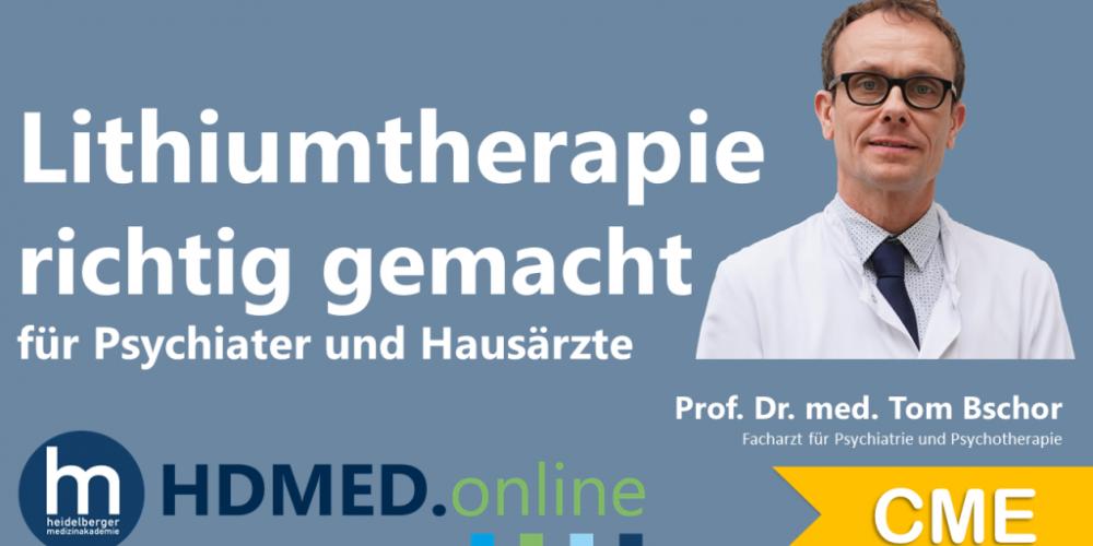 HDMED.online: Lithiumtherapie richtig gemacht für Hausärzte und Psychiater