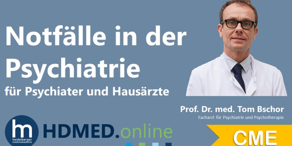 HDMED.online: Notfälle in der Psychiatrie für Psychiater und Hausärzte