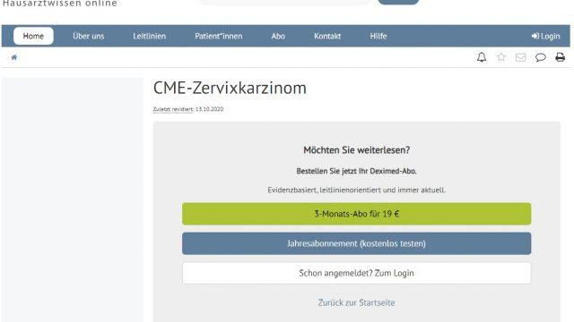 Deximed Zervixkarzinom-Kurs Online